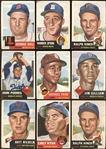 1952-53 Topps Baseball Group of 56 Cards with Paige and Other Hall of Famers