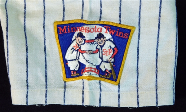 1968-69 Harmon Killebrew Minnesota Twins Game-Used Home Jersey from AL MVP season With Photo Match to 1968 Season By Sports Investors Authentication