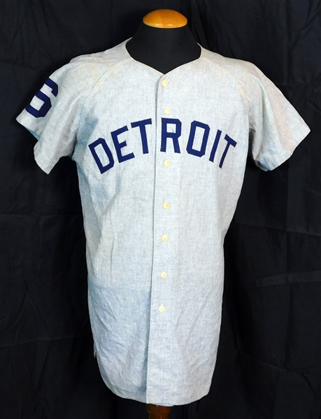 1964 Al Kaline Detroit Tigers Game-Used and Signed Road Jersey