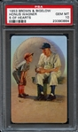 1953 Brown & Bigelow Honus Wagner 5 of Hearts PSA 10 GEM MINT