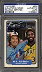 1982 Fleer #638 Gary Carter/Dave Parker PSA/DNA Certified Authentic