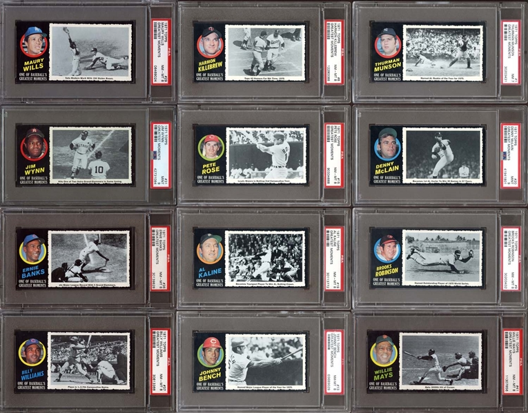 1971 Topps Greatest Moments Complete Set #3 Current Finest on PSA Set Registry