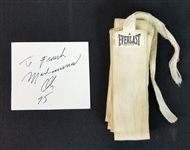 Muhammad Ali Fight-Worn Hand Wrap Worn in Chuck Wepner Fight with Ali Cut Signature
