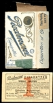 1911 Piedmont Cigarettes Package and Redemption Coupon