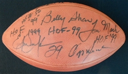 1999 NFL Hall of Fame Induction Class Multi-Signed Official NFL Football with (5) Signatures JSA