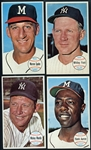 1964 Topps Giants Group of (5) with Mantle and Aaron