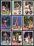 1977-1982 Topps Basketball Group of (5) Complete and Near-Complete Sets