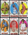 1969 Topps Basketball Group of 57 with Some Duplication