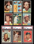 1961 Topps Baseball Group of Over (250) with Stars and HOFers