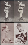 1939-46 Exhibits Salutation Group of Eight (8) Including DiMaggio (2) & Williams