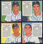 1955 Red Man without Tabs Group of (4) Brooklyn Dodgers Including Snider & Reese
