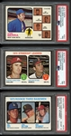 1973 Topps Baseball Complete Set with PSA Graded Stars & Complete Blue Team Checklist Set