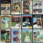 1970-1977 Shoebox Collection of More than 4,000 Baseball Cards with Stars & HOFs