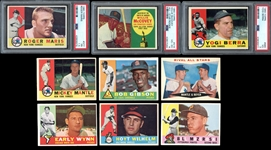 1960 Topps Baseball Group of (97) With Mantle