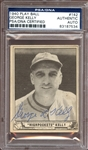1940 Play Ball #142 George Kelly Autographed PSA/DNA AUTHENTIC