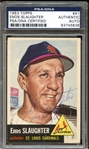 1953 Topps #41 Enos Slaughter Autographed PSA/DNA AUTHENTIC