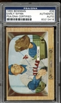 1955 Bowman #38 Early Wynn Autographed PSA/DNA AUTHENTIC