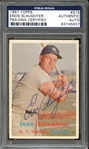1957 Topps #215 Enos Slaughter Autographed PSA/DNA AUTHENTIC