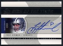 2004 Signed Upper Deck Sign of the Times Troy Aikman