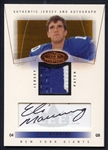 2004 Fleer Signed Eli Manning Authentic Jersey