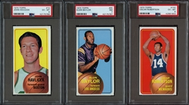 1970 Topps Basketball Group of 27 Cards Including PSA Graded Cards - Includes Havlicek & O. Robertson
