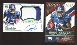 2014 Panini Odell Beckham Jr. Numbered Rookie Card Group of (2) With One Signed
