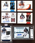 2015-2017 Panini National Treasures Football Autographed Card Group of (6) with Joey Bosa /5