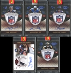 "2010 Panini Plates and Patches Group of (5) Football Cards with (4) Exclusive ""1/1"" Issues"
