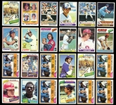 1970s and 1980s Topps Baseball and Football Collection of Approximately (400) Cards Mostly Stars with Some Commons
