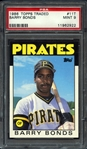 1986 Topps Traded #11T Barry Bonds PSA 9 MINT