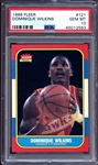 1986 Fleer #121 Dominique Wilkins PSA 10 GEM MINT