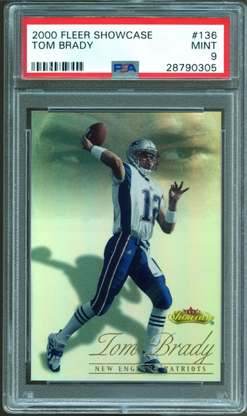 2000 Fleer Showcase #136 Tom Brady PSA 9 MINT