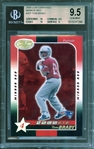 2000 Leaf Certified Mirror Red #207 Tom Brady BGS 9.5 GEM MINT