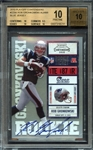 2010 Playoff Contenders #229A Rob Gronkowski Blue Jersey BGS 10