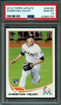 2013 Topps Update #US290 Christian Yelich PSA 10 GEM MINT