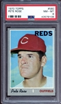 1970 Topps #580 Pete Rose PSA 8 NM/MT