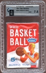 1961 Fleer Basketball Unopened Wax Pack with Oscar Robertson RC on Back GAI 7.5 NM+