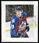 Nathan MacKinnon Colorado Avalanche Original Artwork Commissioned for 2014-15 Upper Deck Masterpieces 1/1