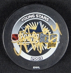 2003 Game Used Young Stars Puck Signed by Alexander Frolov NHL Authenticated