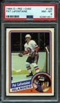 1984 O-Pee-Chee #129 Pat LaFontaine PSA 8 NM-MT