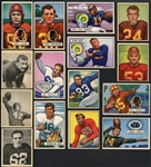 1948-51 Bowman Football High Grade Shoebox Collection of 73 Cards