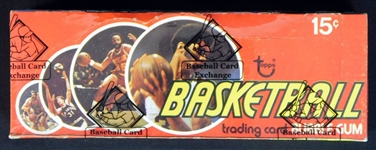 1974-75 Topps Basketball Full Unopened Wax Box BBCE