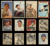 1948-1955 Bowman Shoebox Group of (25) with Mays and other HOFers