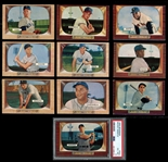 1955 Bowman Baseball Complete Set with PSA 6 Mantle