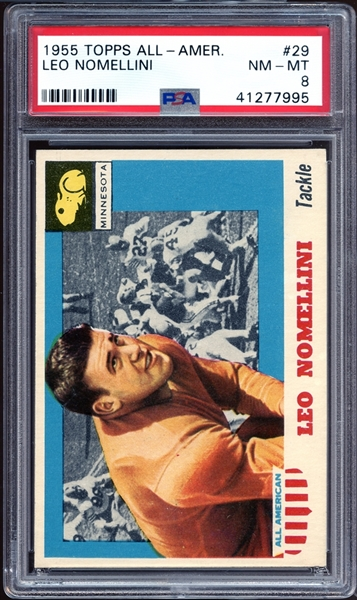 1955 Topps All American #29 Leo Nomellini PSA 8 NM/MT