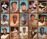 1962 Topps Higher Grade Near Complete Set (594/598) w/ All Green Tints & Pose Variations