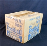 1988 Topps Football Yearbook Stickers Full Unopened Wax Case