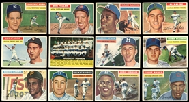 1956 Topps Baseball Near-Complete Set (338/340) with SGC Graded