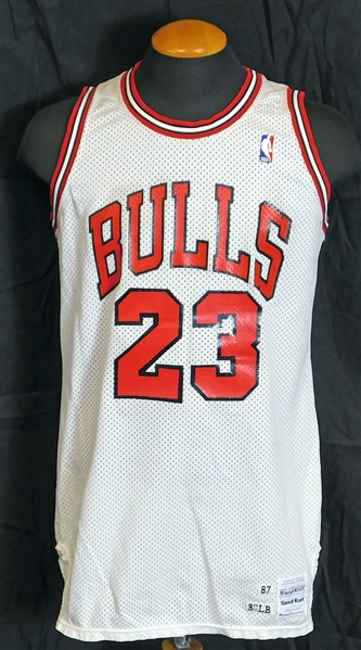 1987-88 Michael Jordan Chicago Bulls Game-Used Home Jersey and Trunks From First MVP Season-MEARS A10, Sports Investors, Meza LOA