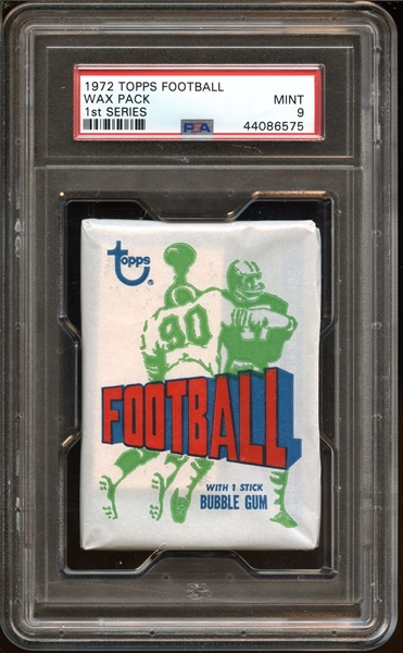 1972 Topps Football Series 1 Unopened Wax Pack PSA 9 MINT